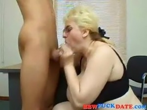 Lazy student gets much more eager after this fuck with his mature BBW teacher